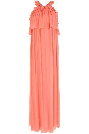NK Silk ruffled long dress - Pi
