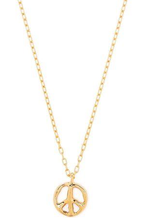 AMBUSH Peace charm silver necklace