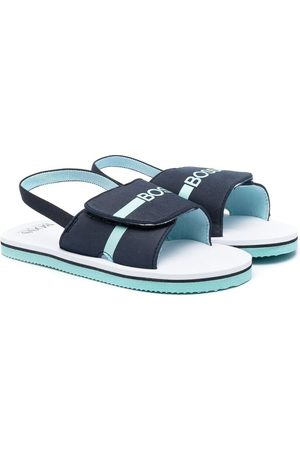 HUGO BOSS Boys Sandals - Logo-print open-toe sandals