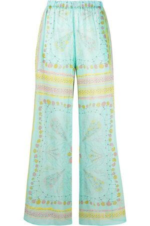 Emilio Pucci Women Pants - Conchiglie-print pallazo pants