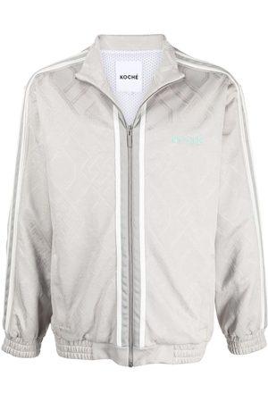 KOCHÉ Zipped bomber jacket - Neutrals