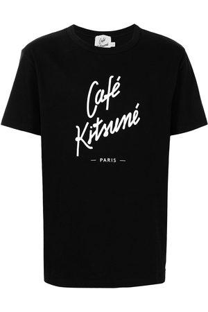 Maison Kitsuné T-shirts - Logo print crew-neck T-shirt