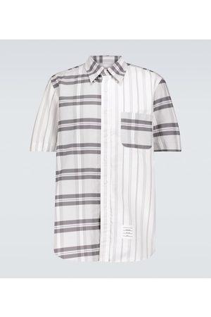 Thom Browne Fun-Mix short-sleeved striped shirt