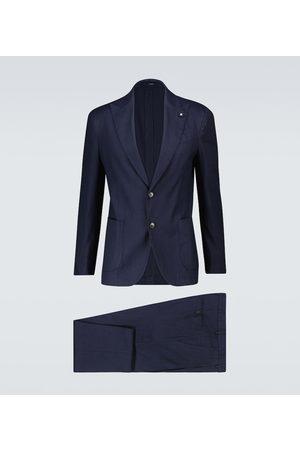 LARDINI Men Suits - Easy Wash linen-blend suit