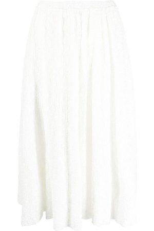 Jil Sander Women Midi Skirts - Embroidered midi skirt