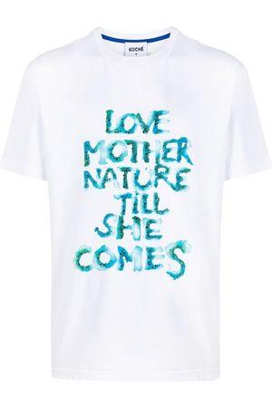 KOCHÉ Slogan print T-shirt