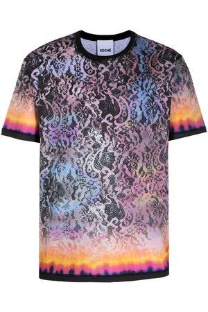 KOCHÉ Men T-shirts - Lace-print T-shirt