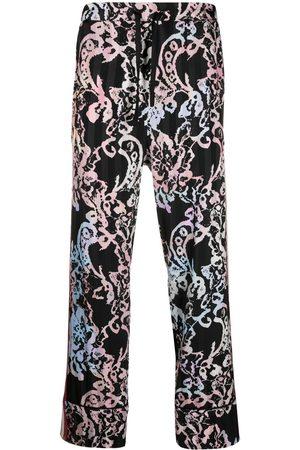 KOCHÉ Men Straight Leg Pants - Lace-print trousers