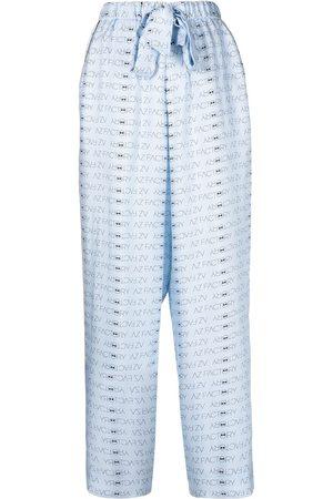 AZ FACTORY AZ logo-print silk pyjama trousers