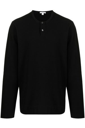 James Perse Henley cotton-blend fleece top