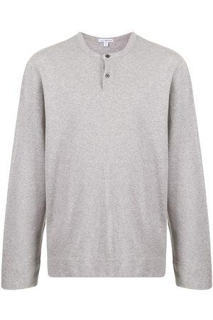 James Perse Henley fleece jumper - Grey