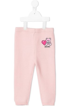 Moschino Baby Leggings - Logo-patch elasticated trousers