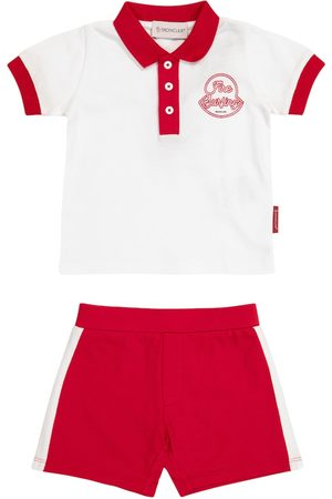 Moncler Sets - Baby stretch-cotton Polo shirt and shorts set