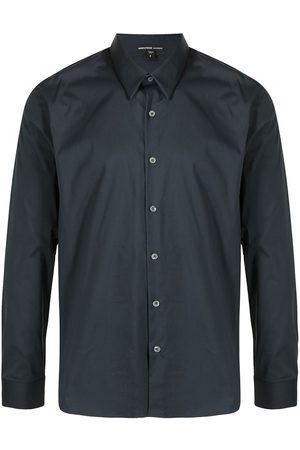 James Perse Matte stretch-poplin shirt