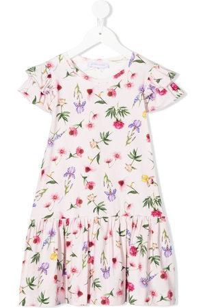 MONNALISA Girls Casual Dresses - Floral print ruffle dress