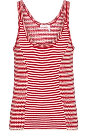 Chloé Striped knit cotton tank top