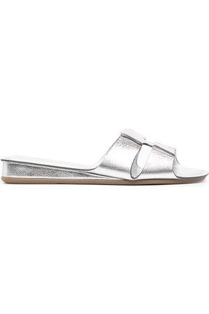 RODO Women Sandals - Cutout metallic sandals