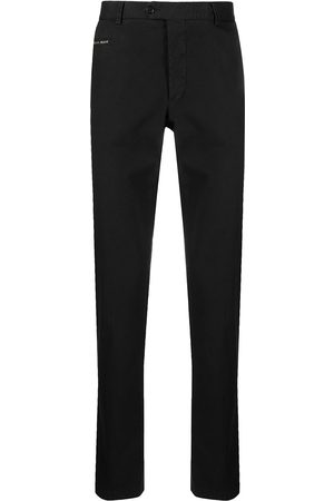 Philipp Plein Men Chinos - Logo-plaque straight leg chinos