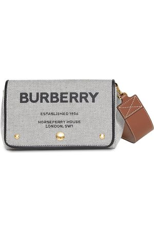 Burberry Small Horseferry-print canvas crossbody bag
