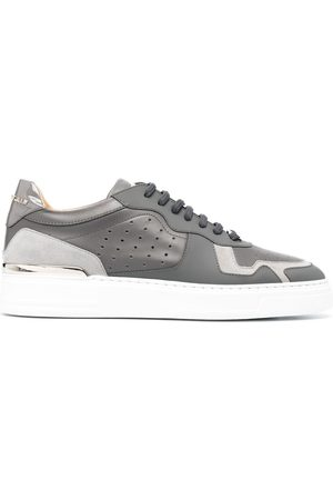 Philipp Plein Men Sneakers - Panelled low-top sneakers - Grey