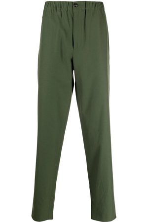 Kenzo Men Straight Leg Pants - K-logo cotton straight-leg trousers