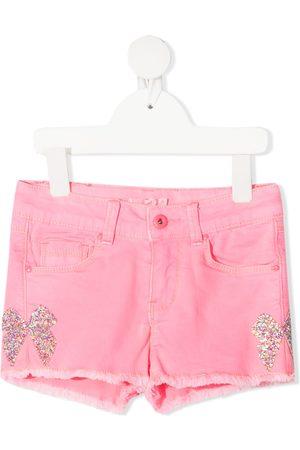 Billieblush Glitter bow denim shorts