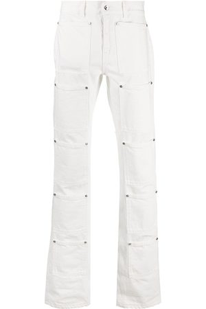 Lourdes Men High Waisted - High-rise graphic-print flared jeans