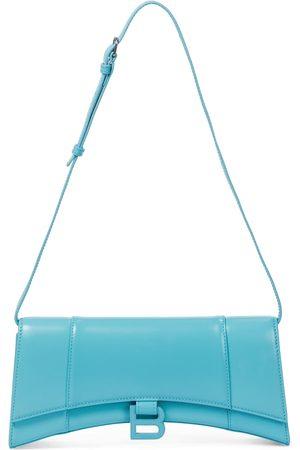 Balenciaga Women Shoulder Bags - Hourglass leather shoulder bag