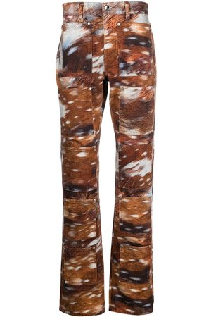 Lourdes Men Skinny - Mid-rise graphic-print flared jeans