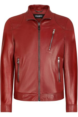 Dolce & Gabbana Stand-collar leather jacket
