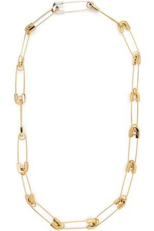 AMBUSH Safety-pin silver necklace