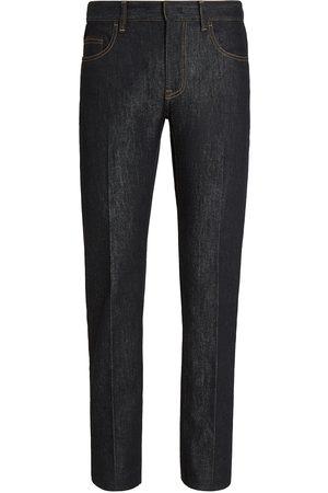 Ermenegildo Zegna Men High Waisted - High-rise slim-fit jeans