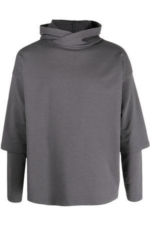 Alchemy Men Hoodies - Layered drop-shoulder hoodie - Grey