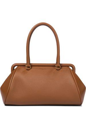 Salvatore Ferragamo Women Shoulder Bags - Frame Small leather shoulder bag