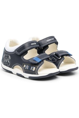 Geox Boys Sandals - Dog-print touch-strap sandals