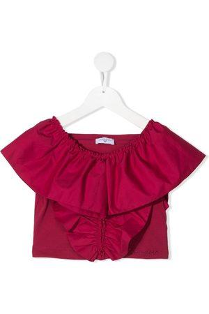 MONNALISA TEEN ruffle-trim cotton blouse