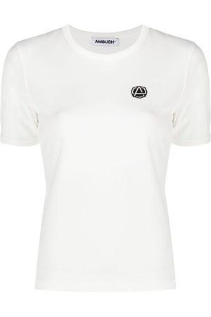 AMBUSH Emblem patch slim-fit T-shirt - Neutrals