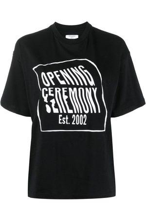 Opening Ceremony Women T-shirts - Logo-print cotton T-shirt