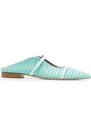 MALONE SOULIERS Maureen perforated flat mules