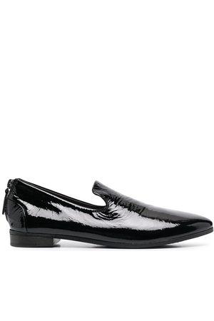 MARSÈLL Women Loafers - Pointed toe rear zip loafers