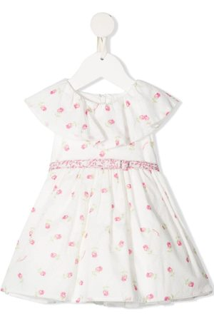 MONNALISA Baby Printed Dresses - Floral-print flared dress