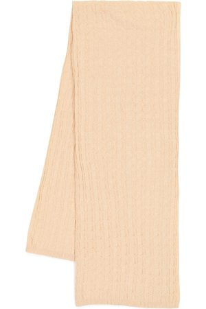 Totême Women Scarves - Cable-knit cashmere scarf
