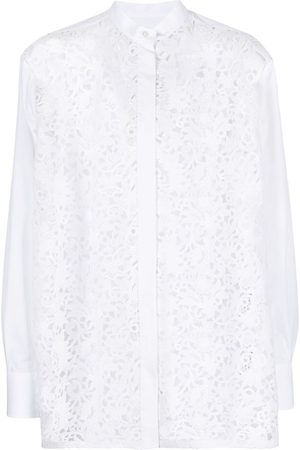 VALENTINO Crocheted floral lace shirt