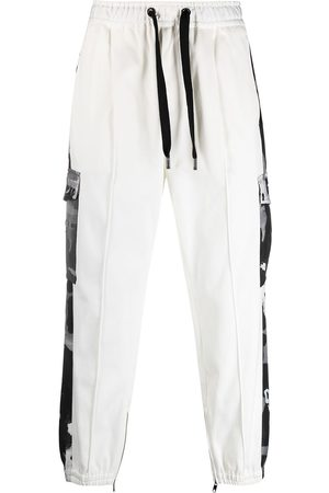 Dolce & Gabbana Camouflage-print panelled track pants