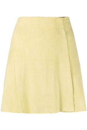 arma leder Women Mini Skirts - Suede A-line mini skirt