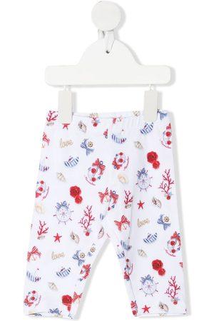 MONNALISA Nautical-print cotton leggings