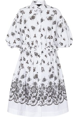 Simone Rocha Women Midi Dresses - Floral cotton shirt midi dress