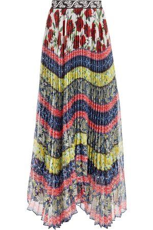 ALICE+OLIVIA Katz asymmetric pleated skirt