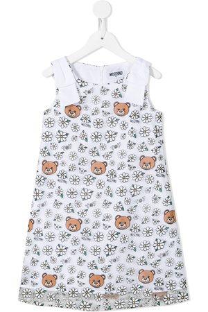 Moschino Girls Printed Dresses - Teddy and daisy print dress