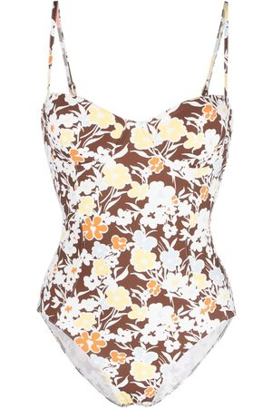 Tory Burch Women Swimsuits - Floral-print one-piece swimsuit
